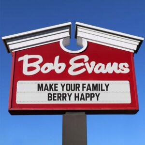 Bob Evans menu pdf